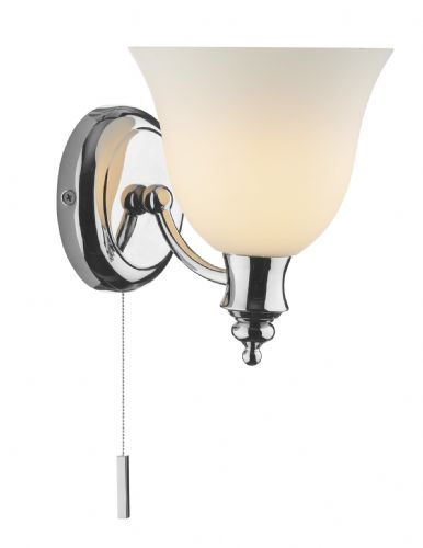 Oboe 1-light Polished Chrome IP44 Double Insulated Wall Light (Double Insulated) BXOBO0750-17